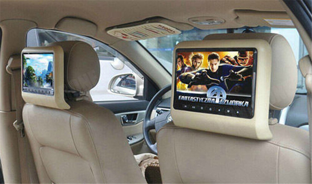 2 шт. X 9 дюймов HD Автомобильный подголовник dvd-плеер подголовник TFT ЖК-экран RCA монитор аудио видео Encosto de Cabeca com DVD