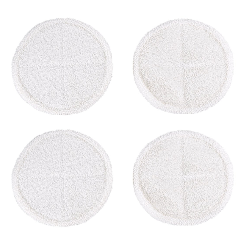 4 Pack Soft Contact Mop Pads Replacement For Bissell Spinwave 2039A 2124 Powered Hard Floor Mop