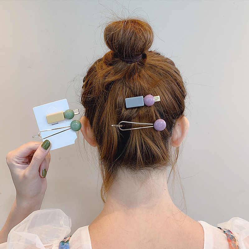 4 รูปแบบเกาหลี Ins คลิปโลหะผสมง่ายปรับผู้หญิง Hairpins ผมจัดแต่งทรงผมอุปกรณ์เสริมพรหมเครื่องประดับงานแต่งงาน