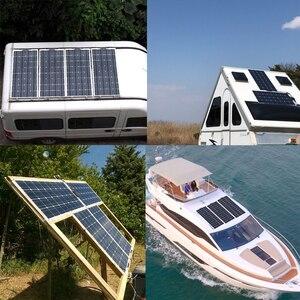 Image 5 - 柔軟なソーラーパネル30ワット/40ワット/60ワット/100ワット12v/16v/18 12v太陽エネルギー携帯モジュールバッテリー充電器パネル車/トラック/オートバイ