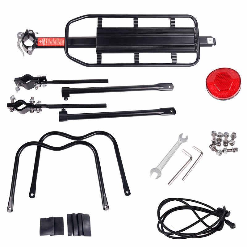 20-29 inç bisiklet bagaj taşıyıcı kargo arka raf raf bisiklet Seatpost çanta tutucu standı ile bisikletler için kurulum araçları arka raf
