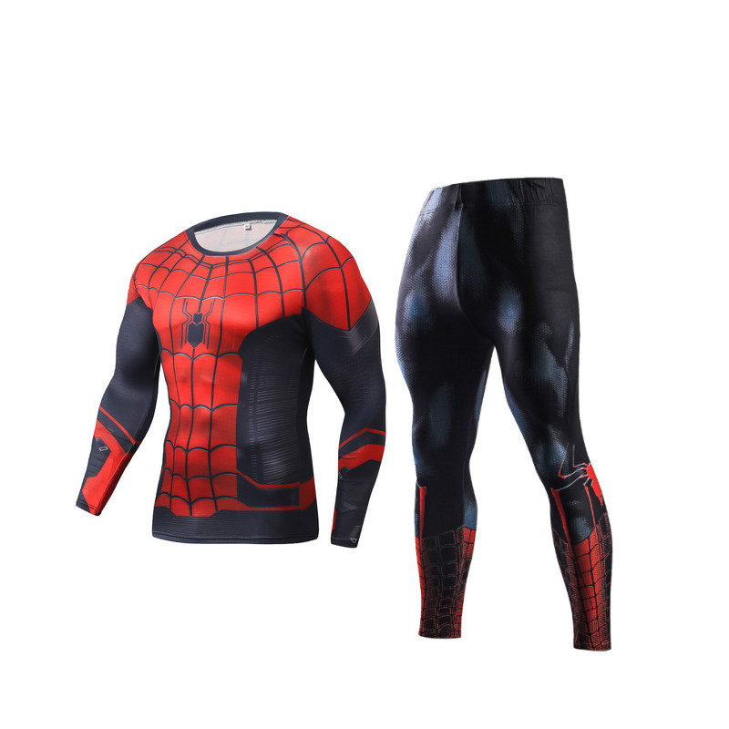 Compression Men's Sport Suits Quick Dry Running sets High Quality Clothes Joggers Training Gym Fitness Tracksuits MMA Rashguard 4