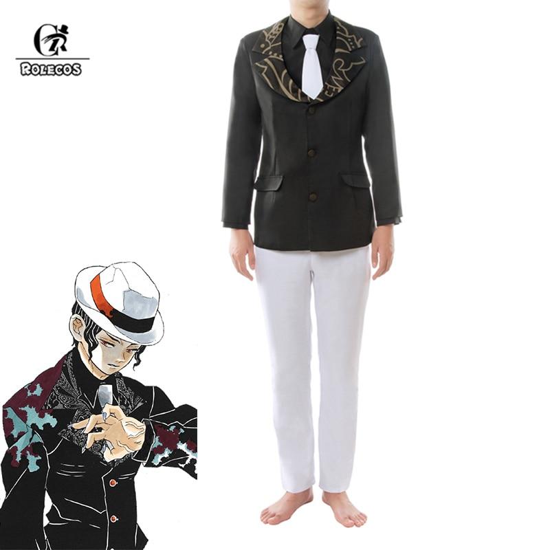 ROLECOS Demon Slayer Kibutsuji Muzan Cosplay Anime Kimetsu no Yaiba Cosplay Costume Men Halloween Michael Jackson Suits