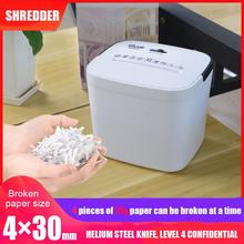 New Mini  Portable File  Shredder Crusher Destroyer Paper Documents Desktop Silent And Confidential Automatic Cutting Machine