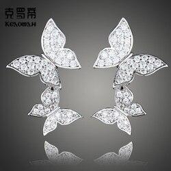 YGU54  925 sterling silver wedding engagement Earrings New Sterling Silver Earrings for men and women