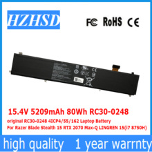 15,4 V 5209mAh 80Wh RC30-0248 original 4ICP4/55/162 Laptop Batterie Für Razer Klinge Stealth 15 RTX 2070 Max-Q LINGREN 15 (i7 8750)