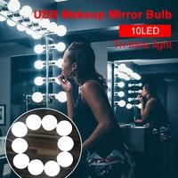 Светодиодный зеркальный светильник s 10 лампочка 3 цвета светильник для туалетной комнаты Набор для стола Голливудский стиль Гламурный