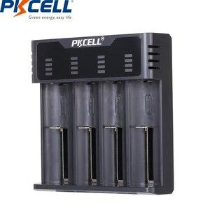 Image 1 - Inteligentna ładowarka do akumulatora PKCELL do 1.2v 3.7v AA/AAA 18650 akumulator NIMH/NICD wskaźniki ładowarki szybkie ładowanie