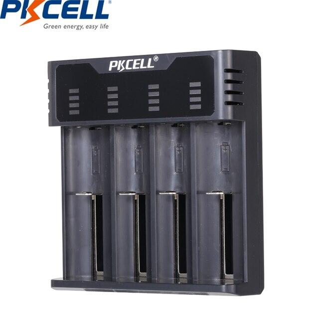 Inteligentna ładowarka do akumulatora PKCELL do 1.2v 3.7v AA/AAA 18650 akumulator NIMH/NICD wskaźniki ładowarki szybkie ładowanie