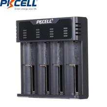 Умное зарядное устройство PKCELL для аккумуляторов 1,2 в 3,7 в AA/AAA 18650, NIMH/NICD, индикаторы заряда, быстрая зарядка