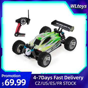 WLtoys A959B RC Car 1/18 70Km/h High Speed Racing 540 Brushed Motor 4WD Off-Road Remote Control Electric RTR Kids Toy