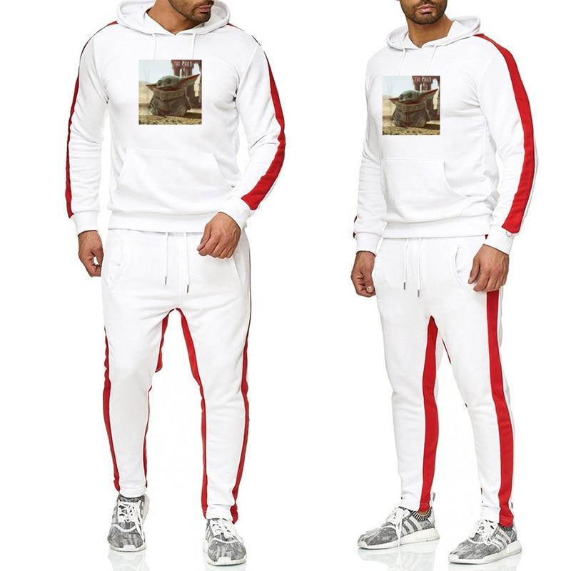 OIMG Hot Sale Multicolor 2 Pieces Set Yoda Sweatshirts Men's Sets Hoodie & Sport Pants Casual Tracksuit Sweat Suits Men Clothes