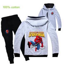 Kids Costumes Spiderman Baby-Boys Clothing-Sets Coat Hoodies Sport-Suit Spring Disney