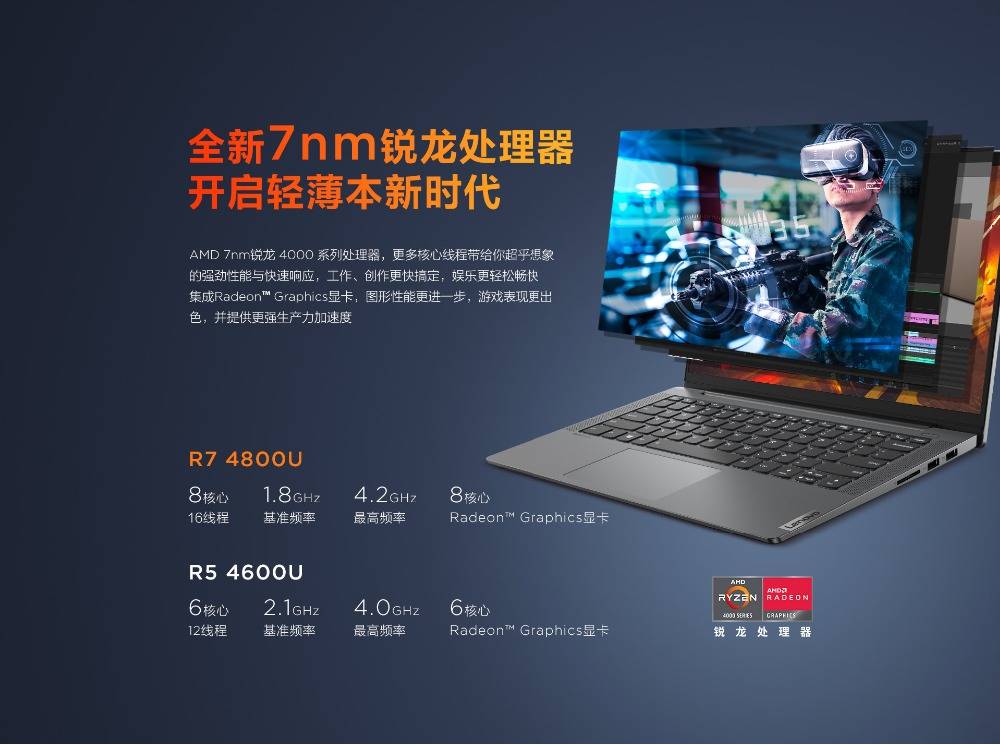 2020 Laptop Lenovo Xiaoxin Air 14 With Latest 10th Gen Core i7 i5 AMD 4600H 16GB Ram 512GB SSD MX350 DDR5 Dedicated Metal Body