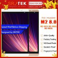 SRJTEK 8.0 dla Huawei Mediapad M2 LCD M2-801L wyświetlacz LCD M2-801 M2-801W M2-803L Matrix ekran czujnik ekranu dotykowego wymiana