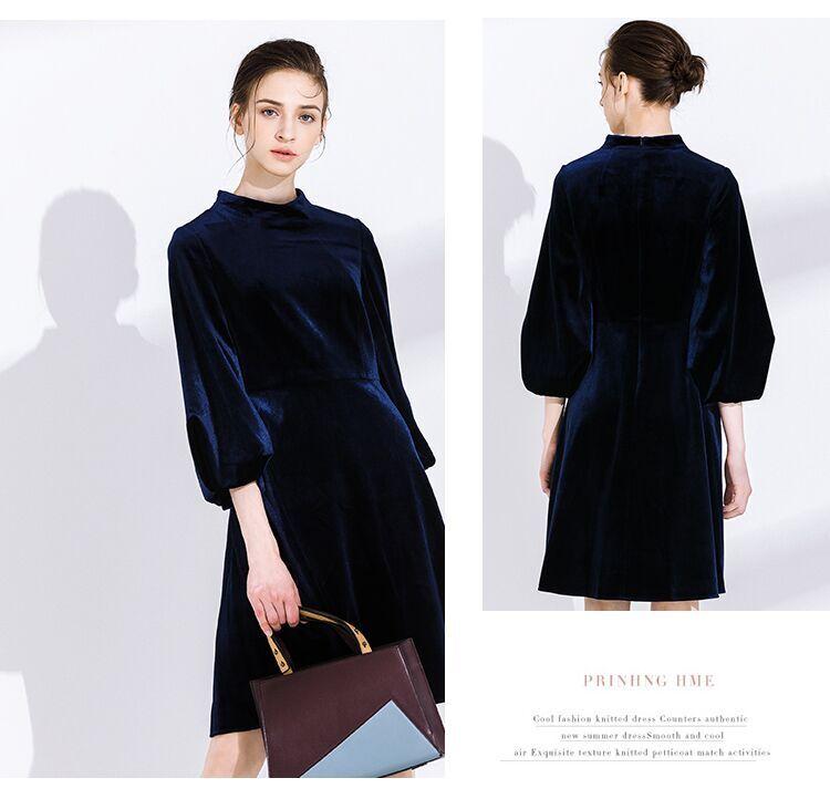 short Evening Dresses 2020 cheap simple three quarter sleeves Dubai evening gown Party prom Dress
