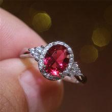 Modyle Винтаж красный овал, куб, цирконий Для женщин кольцо с кубическим цирконием благородный для мамы, папы, бабушка подарок ретро вечерние п...