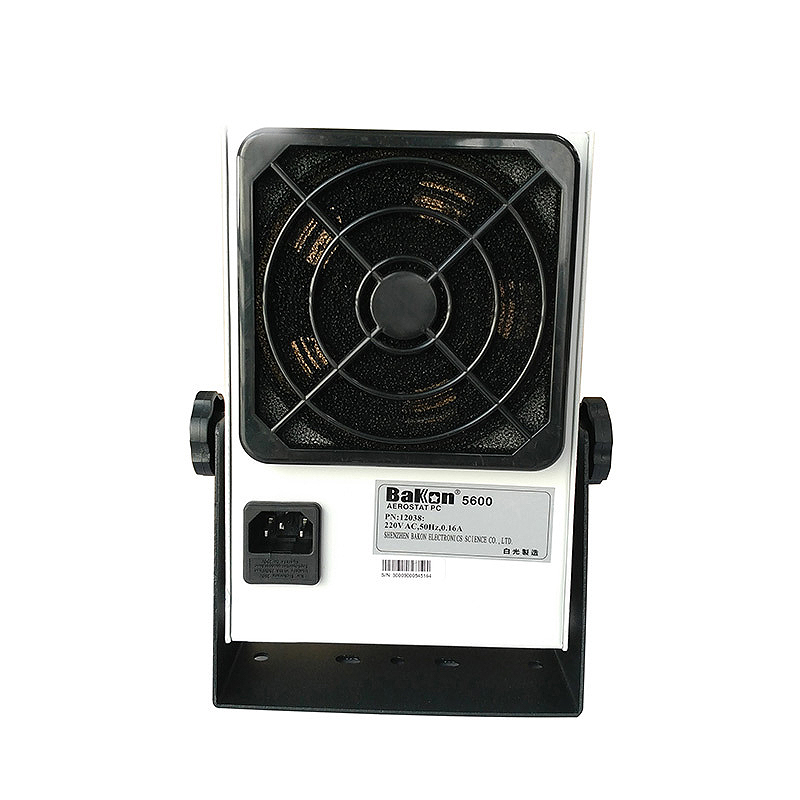 Eliminam a Ionização Cabeça do Ventilador de Íon do Computador Removedor de Poeira Ionizando a Remoção de Poeira os Ionizadores de Bancada fã de Ionização de Mesa de Uma Estática Única Bk5600