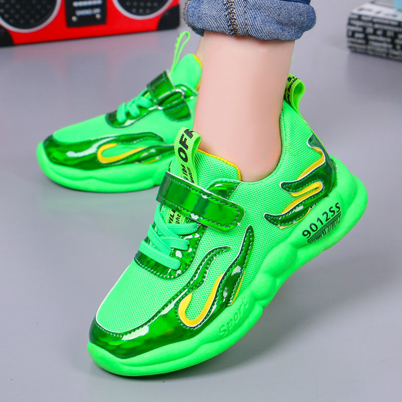 Kids Shoes Lightweight Slip On Breathable Running Walking Tennis Sneakers For Girls Boys Fashion Sports Shoes 26-37 Size