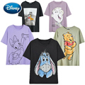 Disney Mickey Maus Donald Duck Schnee Weiß Prinzessin Cartoon Print T-Shirt Oansatz Pullover Kurzarm Mode Frauen T Tops