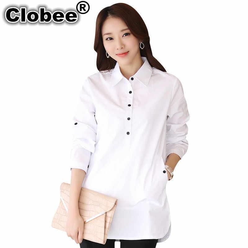 Fashion Elegant Blouse White Shirt Women blusa social feminina S-3XL Ladies Office Shirts Formal Cotton Blouse Blusas Femininas