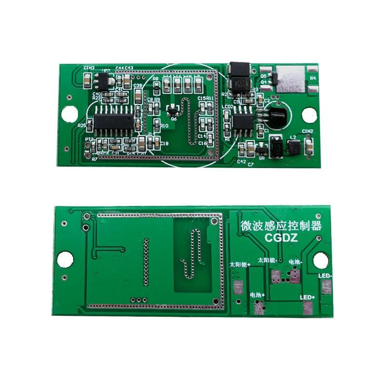 3.2V 6.4V Radar Body Sensor Solar Light Circuit Board Solar Integrated Street Light Controller