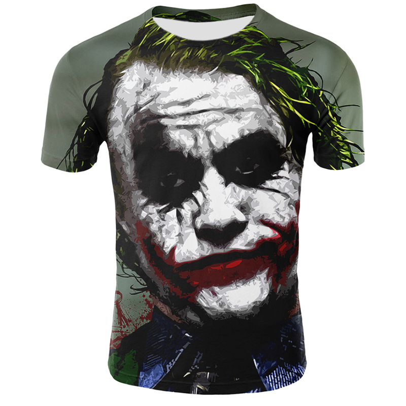 Casual 3D Tshirt Men Harajuku Clown Printed T Shirt Halloween Male Tee Shirts Streetwear Fashion Men Women Tshirts Summer Tops