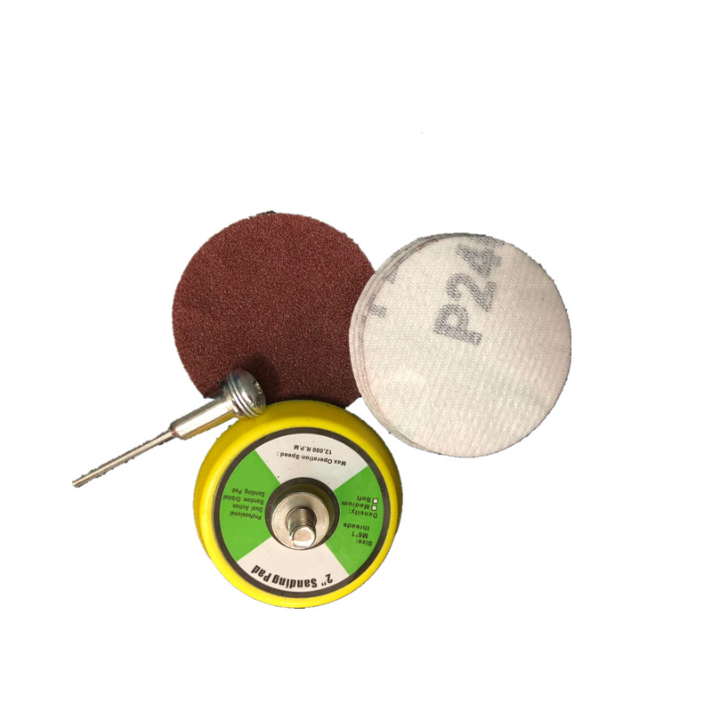 2-Inch 3-Inch Flocked Sandpaper 50 Mm Cashmere Sand Paper \N  75mm Self-Adhesive Round Sandpaper Disc Sandpaper