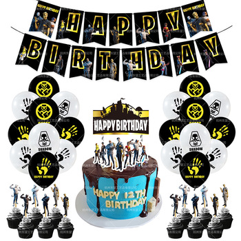 Fortnites Birthday Set Cake Party Balloons Decoration Number Balloon Kids Baby Shower Decor Globos Gift - discount item  19% OFF Festive & Party Supplies