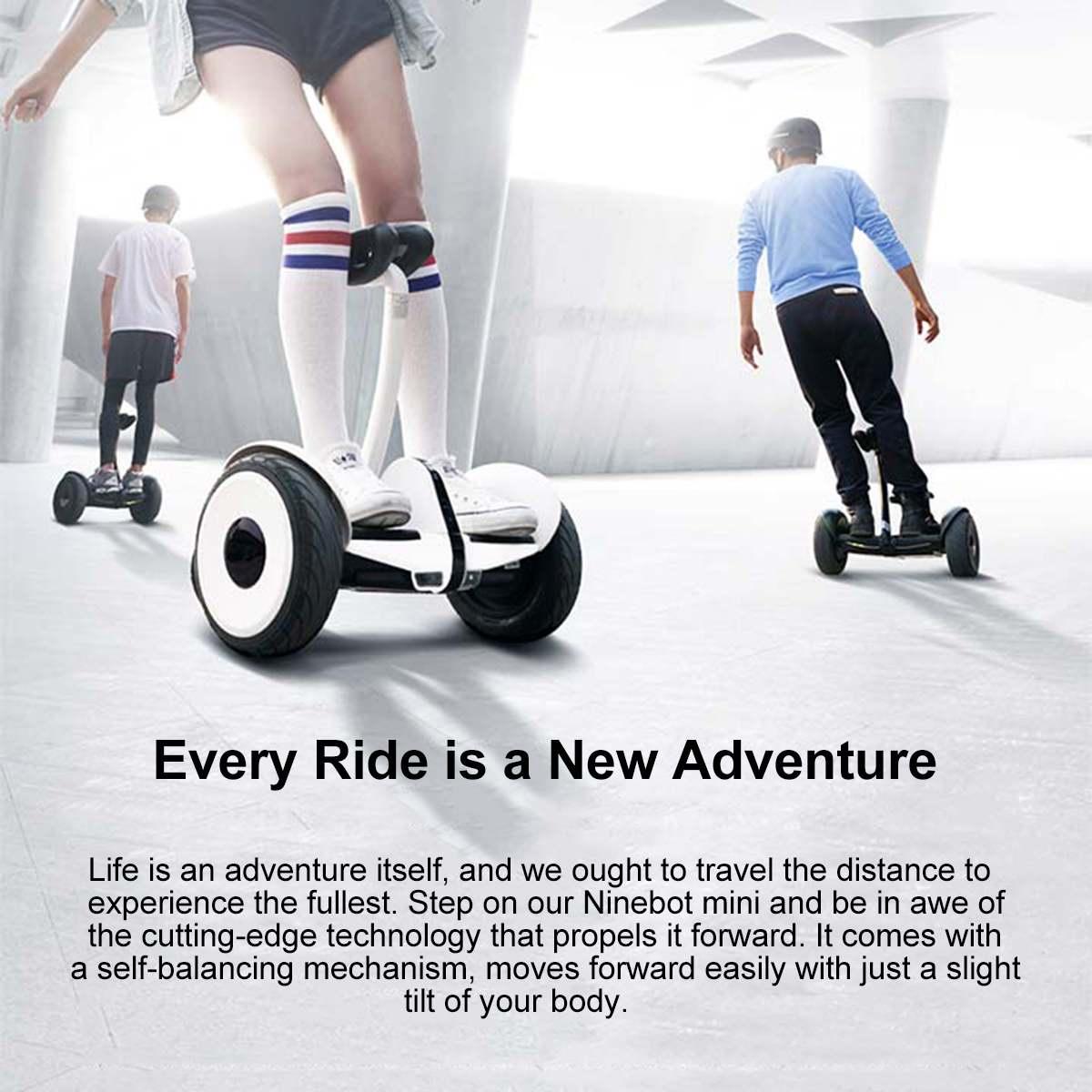 Оригинальный Xiaomi mini Ninebot умный самобалансирующийся электрический скутер двухколесный Скейтборд 10 дюймов - 2