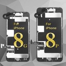 AAA + + + 아이폰 5S SE 6 6 플러스 LCD 디스플레이 터치 마운트 교체 스크린 아이폰 6s 7 8 플러스 lcd 카메라 + 홈 버튼