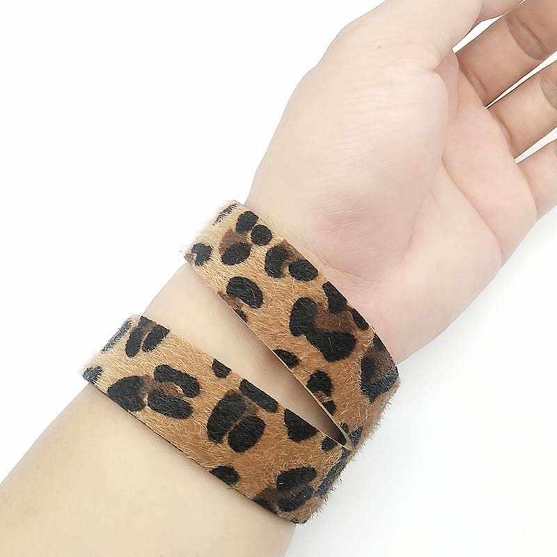 D&D Leopard Leather Bracelets Women Fashion Jewelry Bangles Bracelet Punk Style Soft Vintage Bangle Female Wedding  Jewelry