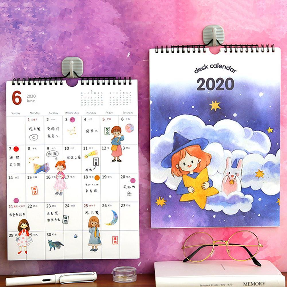 8.25x12.6 Inch 2020 Calendar Monthly Daily Planner Wall Calendar Study & Work Planning Organizer For Home Office School Supplies