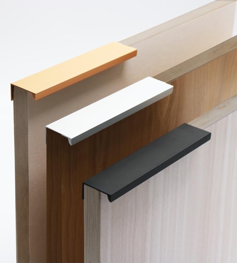 Preto prata ouro armário escondido alças de aço inoxidável armário de cozinha puxa puxadores de gaveta puxador de móveis