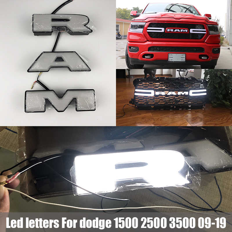 dodge ram emblem replacement Für Dodge RAM Auto Aufkleber RAM Led Emblem Kühlergrill buchstaben für  Dodge RAM 2 2 2 Auto Styling RAM logo Auto Aufkleber