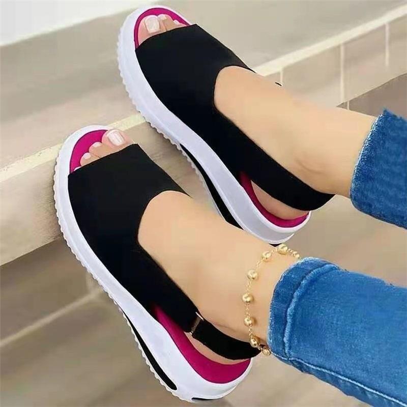 Brkwlyz 2021 nova mulher sandálias de costura macia sandálias confortáveis sandálias planas mulheres dedo do pé aberto sapatos de praia mulher calçado 6