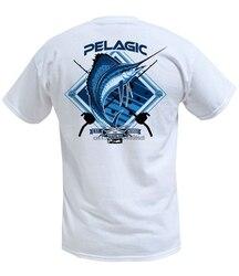Camisas premium do t do sailfish branco pelágico
