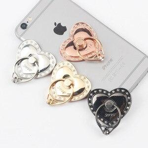 Большой многофункциональный автомобильный держатель для телефона в форме сердца, кольцевая Пряжка, мобильный телефон чехол, держатель для ...