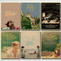 Call Me by Your Name Movie Kraft paper poster Wall Art Wall Pictures For Living Room Decoration