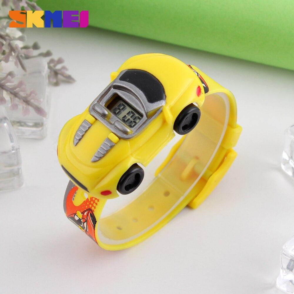 SKMEI Индивидуальность Креатив Мультфильм Спорт Часы Для Детей +Красочный Автомобиль Модель Цифровой Часы Мальчик Подарок Enfant Часы Hombre Reloj