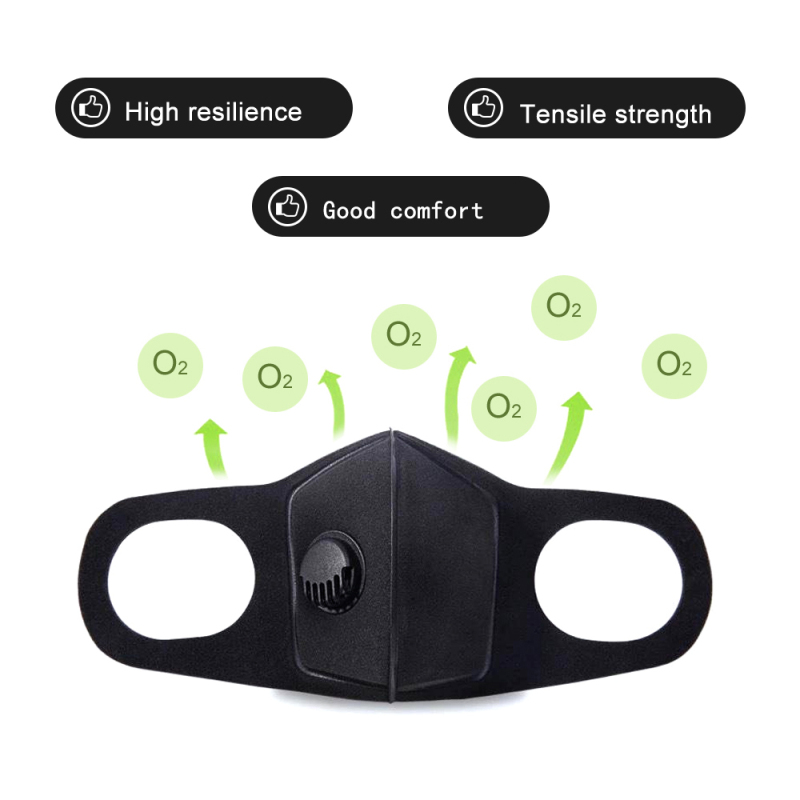 50/20/10pc Men Women Anti Dust Mask Anti PM2.5 Pollution Face Mouth Respirator Black Breathable Valve Mask FilterToiletry Kits