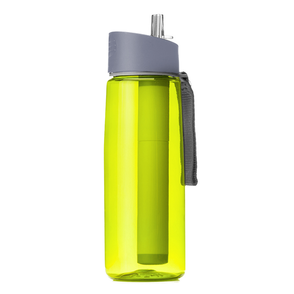 650ml Outdoor Water Filter Bottle Water Filtration Bottle Purifier for Camping Hiking Traveling Camping Equipment Multi