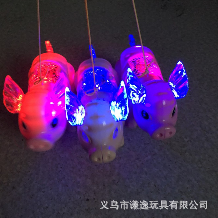 19 Electric Leash Pigskin Light Concert Walk Doll Douyin Hot Selling Momo Pig CHILDREN'S Toy Stall Hot Selling