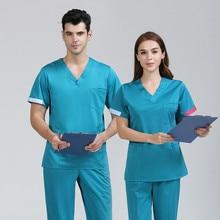 Operating room hand-washing clothes female nurses wear dental work isolation male brush hand clothing