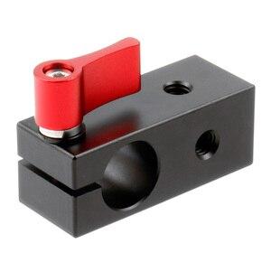 Image 4 - Bgning 15mm 1/4 única haste buraco montagem braçadeira fio display microfone clipe adaptador câmera slr coelho gaiola clipe câmera acessório