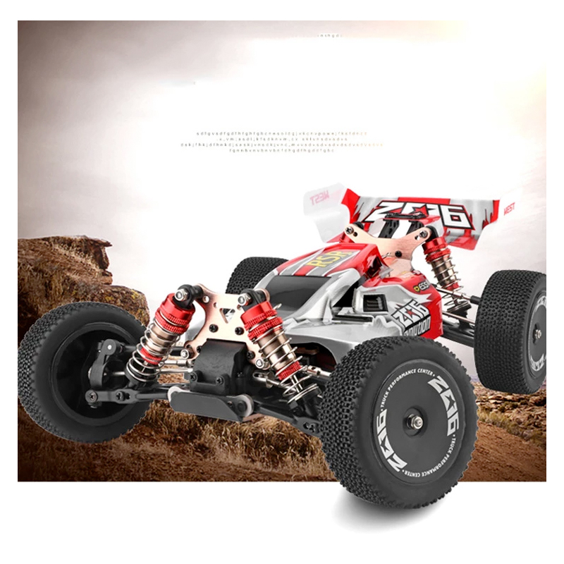 WLtoys 144001 2.4G course télécommande voiture compétition 60 km/h métal châssis 4wd électrique RC formule voiture pour cadeau de noël 5