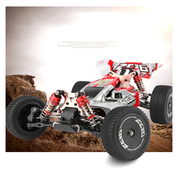 WLtoys 144001 2.4G Racing RC Car Competition 60 km/h Metal Chassis 4wd Electric RC Formula Car Remote Control Toys for Children 5