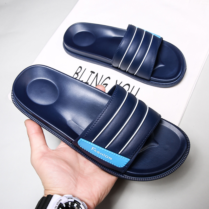 Indoor And Out Door Men Slippers Hot Beach Shoes Casual Sandals Summer Flip Flops Flats Non-slip Bathroom Home Massage Slippers