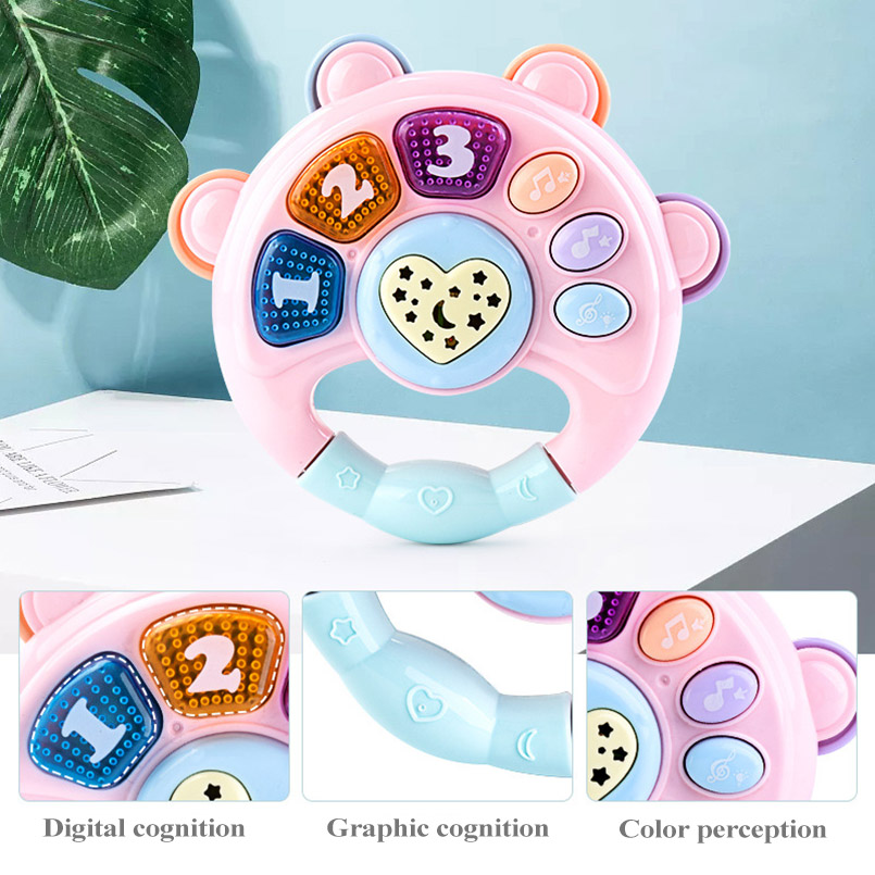 Baby Rattles Toys Newborn Hand Bells Teether Baby Toys 0-12 Months Digital Graphic Cognition Educational mobile Toys for baby
