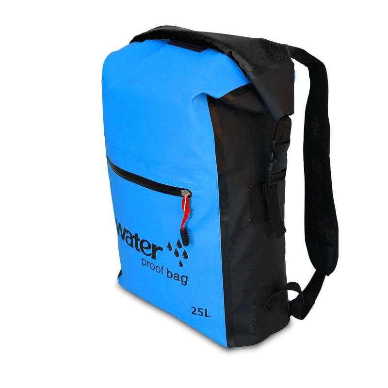 Bolsa de natación impermeable para exteriores de 25L, mochila, bolsa de almacenamiento, bolsa de almacenamiento, bolsa impermeable de viaje para kayak y Deportes de Rafting